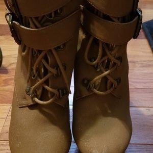 Beige light brown Heeled boots